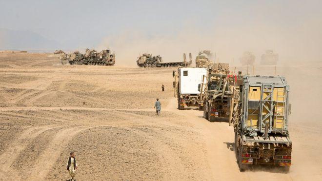 Taliban'a karşı askeri sevkiyat