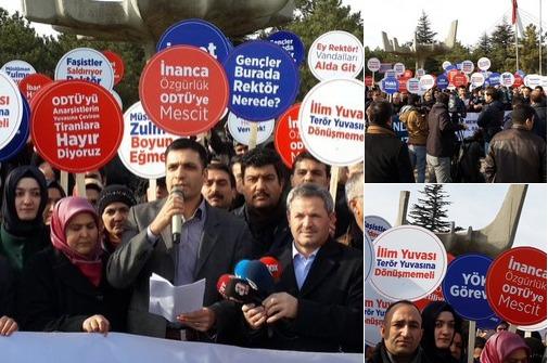 ODTÜ'deki mescid karşıtları protesto edildi