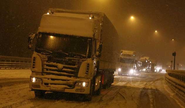 TEM Otoyolu'nun Ankara yönü ulaşıma kapandı
