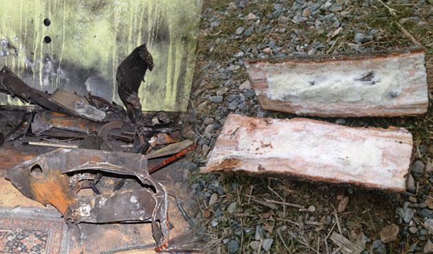 Bomba düzenekli odun sobada patladı