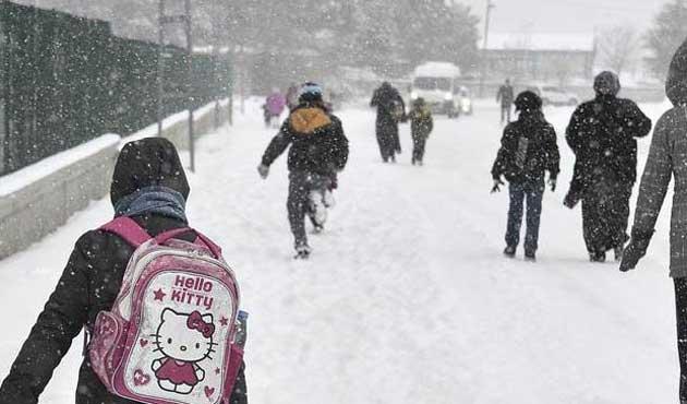 Bazı illerde eğitime kar tatili verildi