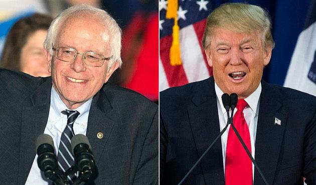 ABD'deki ikinci ön seçimin galibi Sanders ve Trump