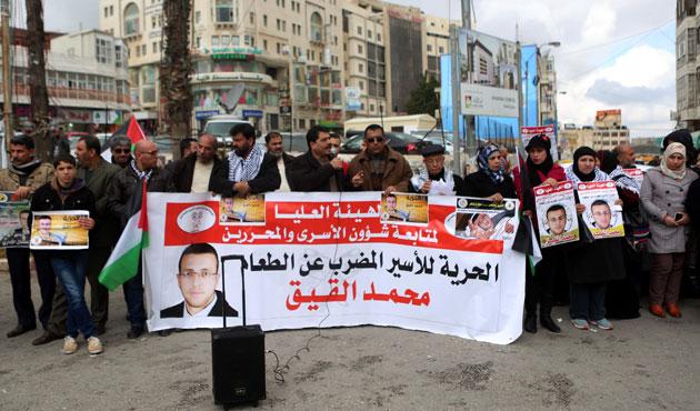 Açlık grevindeki Filistinli için Arap gazetecilere çağrı