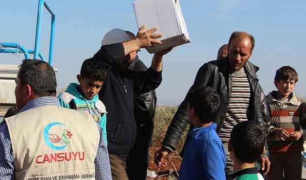 Cansuyu'ndan Lübnan'daki Suriyelilere yardım