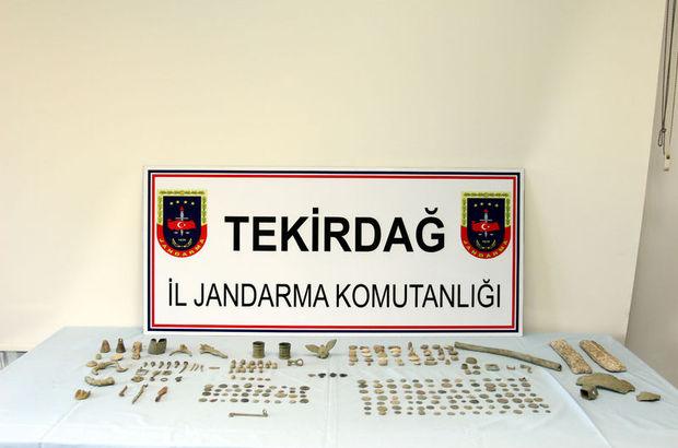 Tekirdağ'da 550 parça tarihi esere el konuldu