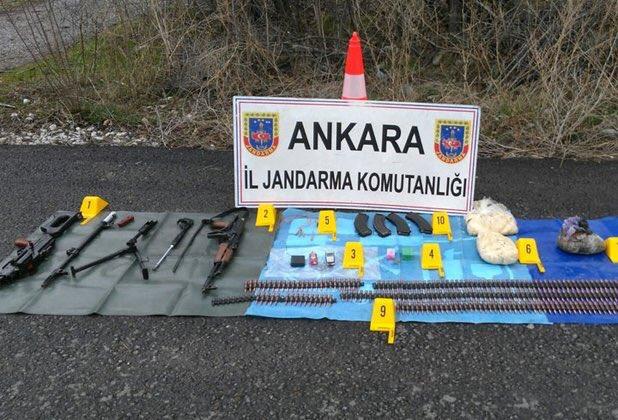 Ankara'da silah ve mühimmat ele geçirildi