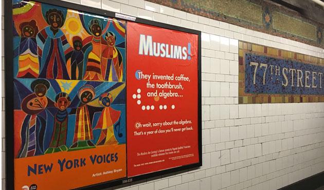 İslamafobi karşıtı afişler New York metrosunda