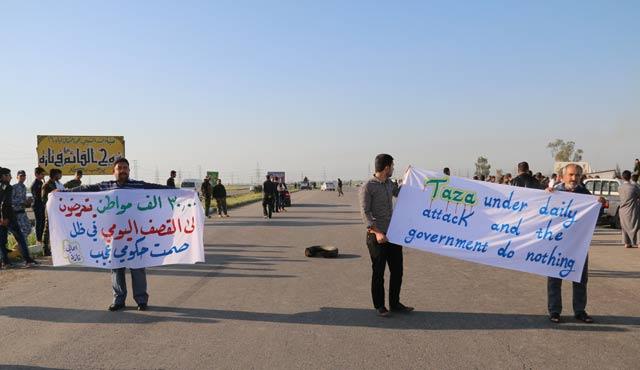 Kerkük'te 'ilaç sıkıntısı' protesto edildi