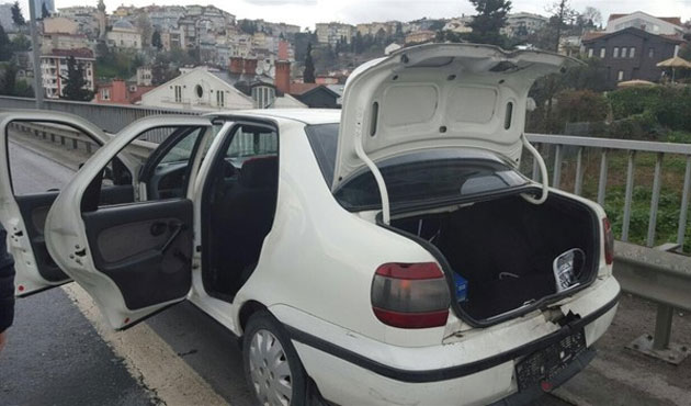 Köprüde bırakılan aracın sürücüsü serbest