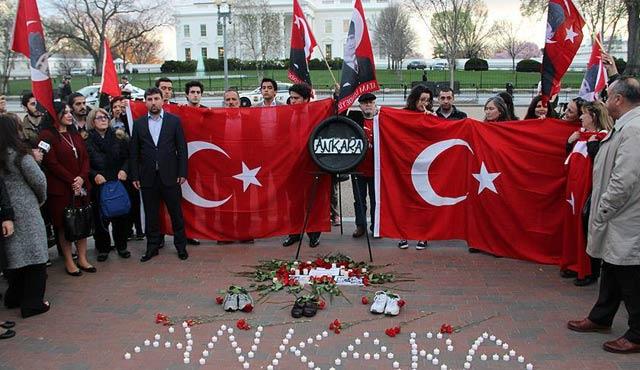Ankara'daki terör saldırısı ABD'de protesto edildi