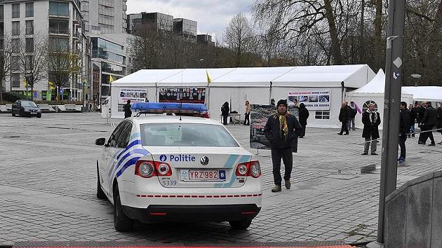 PKK çadırı Belçika polisinin korumasında