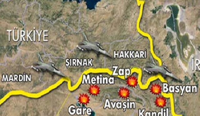 TSK, Kuzey Irak'ta PKK hedeflerini vurdu