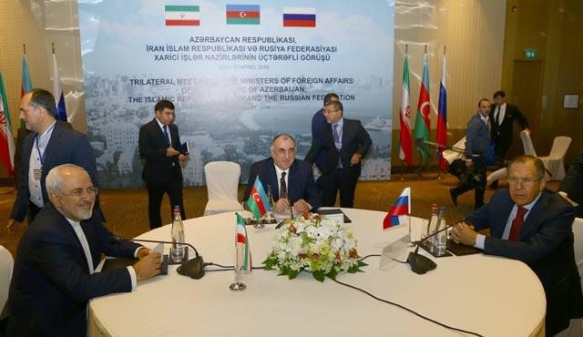 Rusya-İran-Azerbaycan Dışişleri Bakanları toplandı