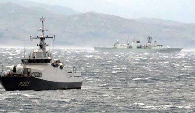Ege Denizi'nde gemi karaya oturdu