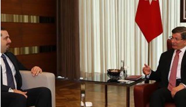 Davutoğlu, eski Lübnan Başbakanı Hariri ile görüştü