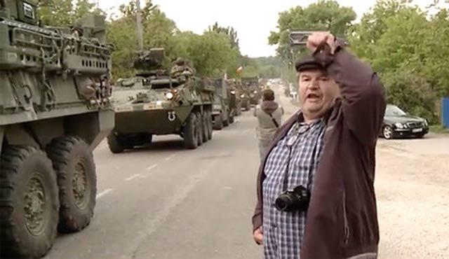 Moldova'da ABD askeri konvoyuna engel
