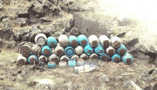 Siirt'te 700 kilogram patlayıcı düzeneği ele geçirildi