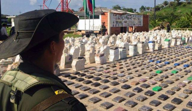Kolombiya'da 8 ton kokain ele geçirildi