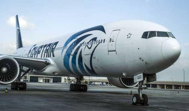 Düşen Mısır uçağının enkaz parçaları bulundu