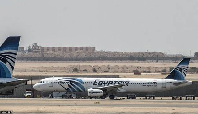 Düşen Mısır uçağından parçalar bulundu