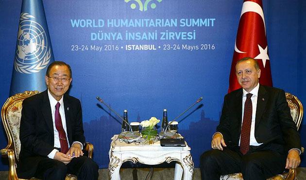 Cumhurbaşkanı Erdoğan, Ban Ki-mun ile görüştü