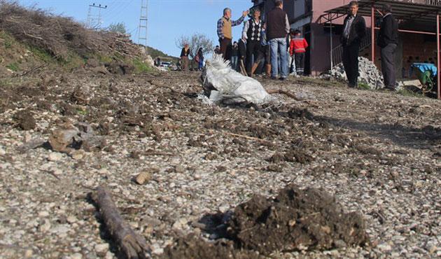 Suriye'den atılan top mermisi Yayladağı'na düştü