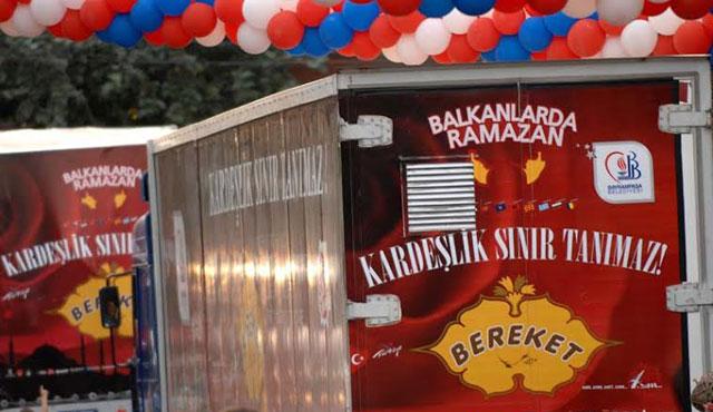 Balkanlara bereket konvoyu yola çıkıyor