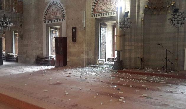 Saldırıda Şehzadebaşı Camii de zarar gördü | FOTO