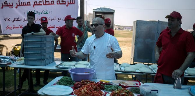 Gazze'de pizza festivali
