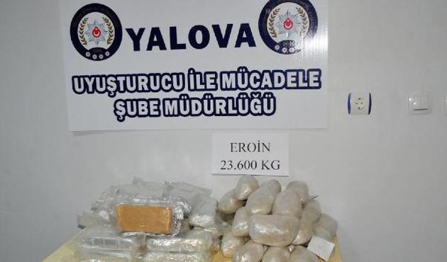Yalova polisi 23 kilo eroin ele geçirdi