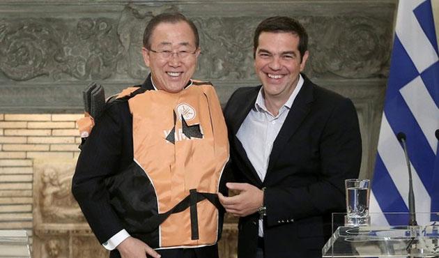 BM Genel Sekreteri Ban Atina'da