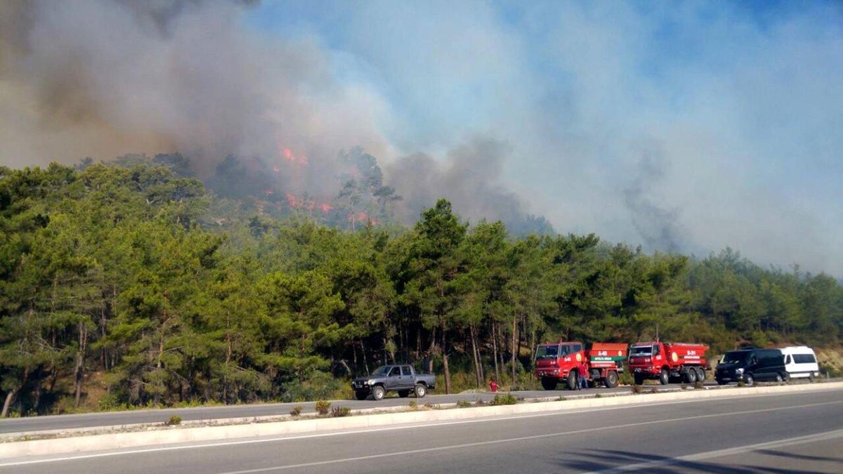 Kemer'de de yangın başladı