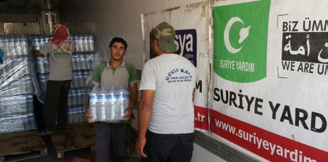 Suriyelilere 25 ton su yardımı