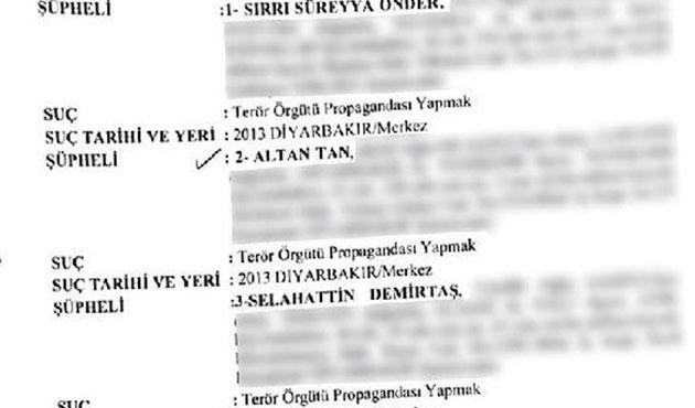 HDP'lilerin fezlekeleri Diyarbakır'da