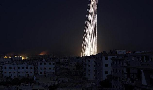 Halep'e fosfor bombalı saldırı