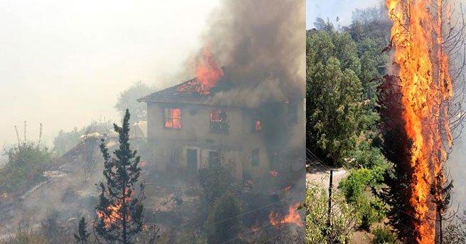 Kumluca yangını yüzünden Antalya yolu kapatıldı