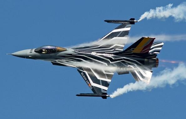 Belçika F16'ları ilk kez Suriye semalarında