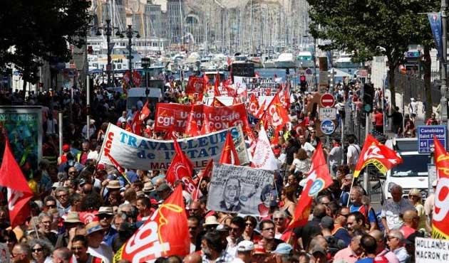 Fransa'da yeni gösteriler