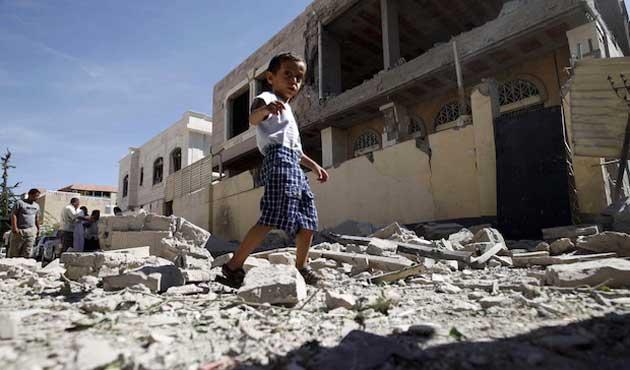 Yemen'de oyun oynayan çocuklara roketli saldırı