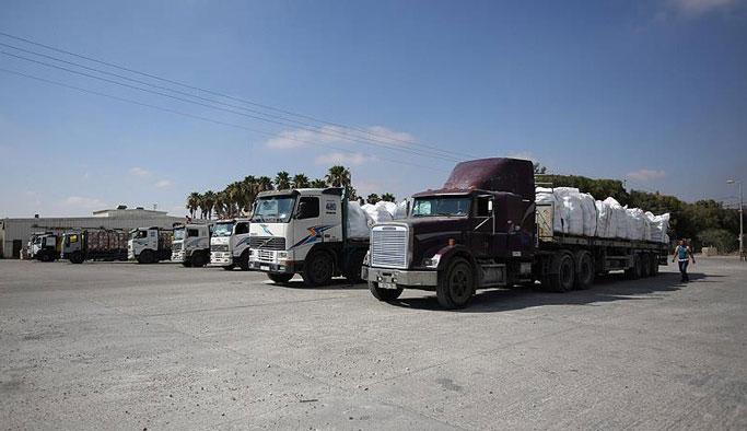19 TIR daha Gazze'ye ulaştı