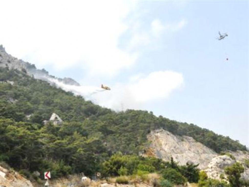 Antalya, Konyaaltı'nda yangın çıktı
