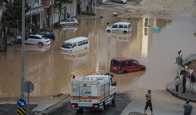 Zonguldak'ta sağanak yağmur