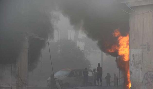 Halep'e vakum bombalı saldırı