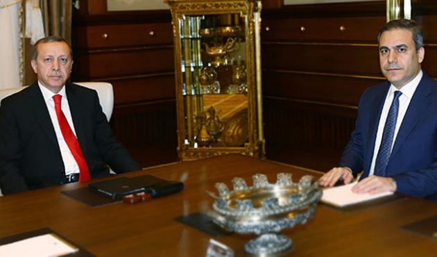 Cumhurbaşkanı Erdoğan Hakan Fidan'la görüşüyor