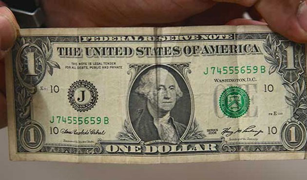 Üsteğmenin odasından 1 dolar çıktı