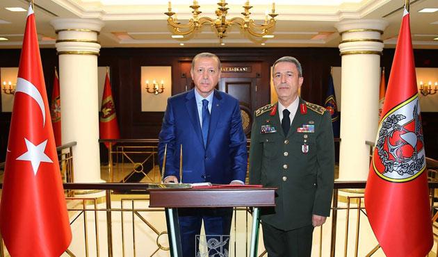 Cumhurbaşkanı Erdoğan Genelkurmay karargahında