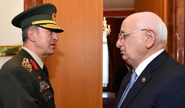 Meclis Başkanı Kahraman, Orgeneral Akar'ı kabul etti