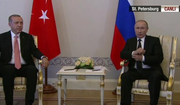 Erdoğan ve Putin'in 'Suriye' görüşmesi sona erdi