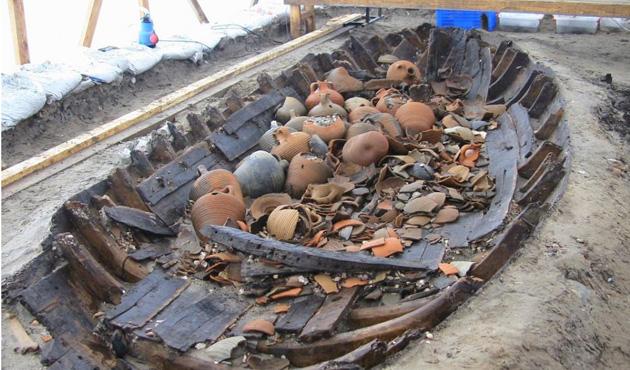 Yenikapı'da Bizans sütun mendirekleri bulundu