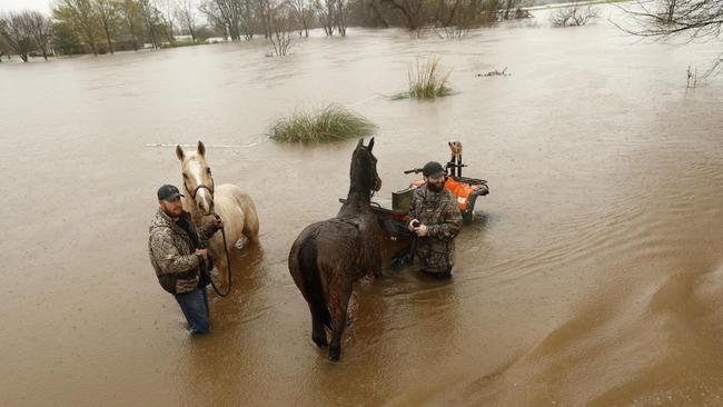 ABD'deki sel felaketinde onbinler evlerini terk etti